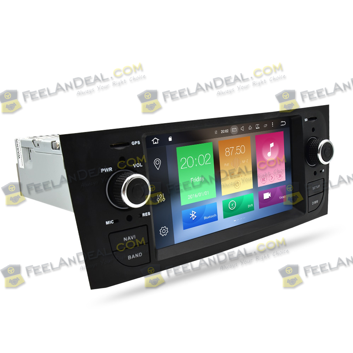 Goede Fiat Grande Punto Linea Headunit Android 8.0 Car Stereo DVD Player YV-85